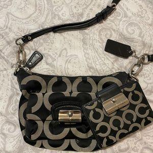 Coach Black & White Small Crossbody Bag